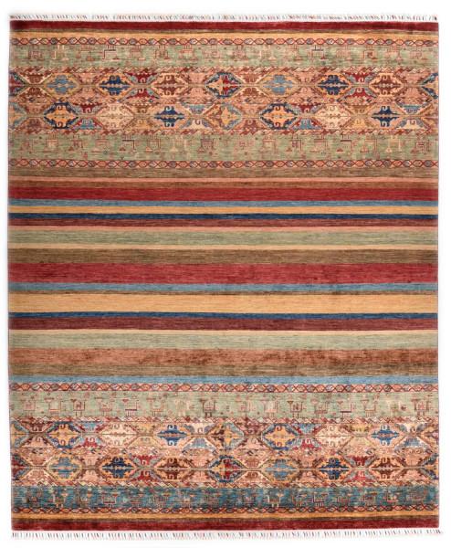 Handgeknüpfter Shawl Teppich aus Ghazni Wolle - Pir Mahal - 248x309cm