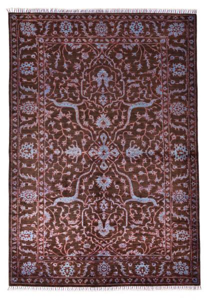 Handgeknüpfter Shawl Teppich aus Ghazni Wolle - Pir Mahal - 170x242cm