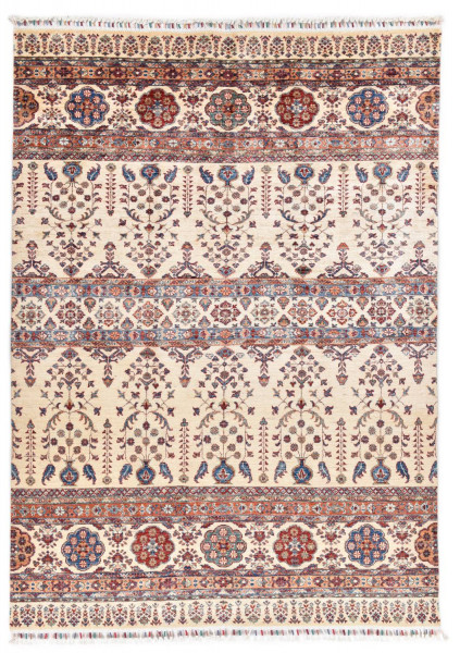 Handgeknüpfter Shawl Teppich aus Ghazni Wolle - Pir Mahal - 170x241cm