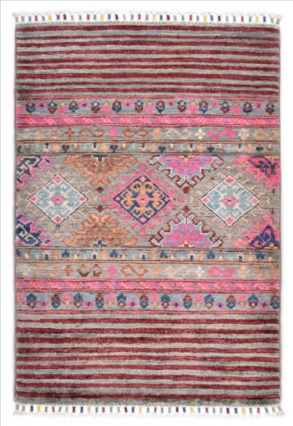 Handgeknüpfter Shawl Teppich aus Ghazni Wolle - Pir Mahal - 59 x 92 cm