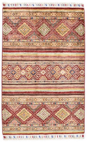 Handgeknüpfter Shawl Teppich aus Ghazni Wolle - Pir Mahal - 83x123cm