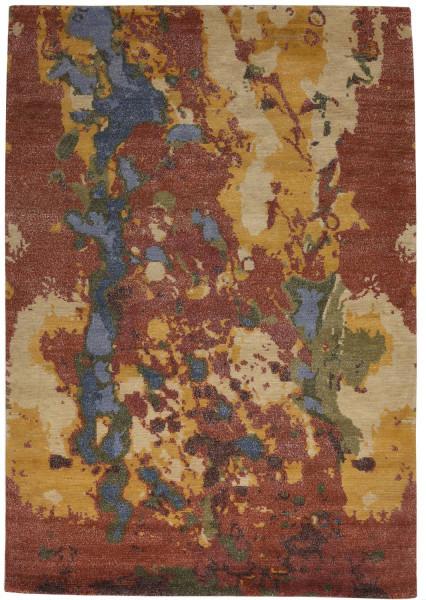 Handgeknüpfter Designerteppich Wolle/Nessel - FINE NATURE - 159 x 235 cm