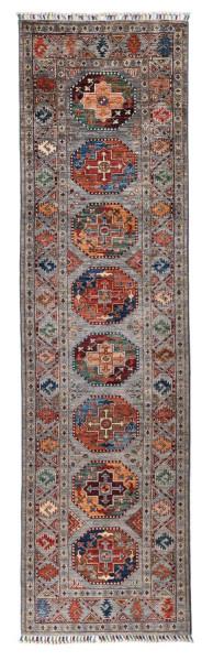 Handgeknüpfter Shawl Teppich aus Ghazni Wolle - Pir Mahal - 82x292cm