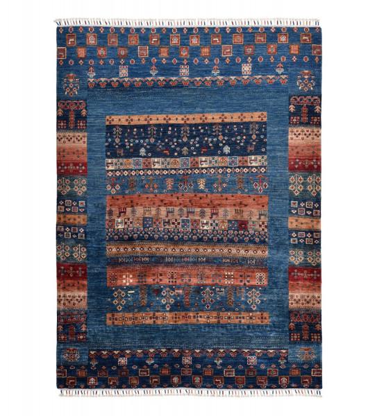 Handgeknüpfter Shawl Teppich aus Ghazni Wolle - Pir Mahal - 147x200 cm