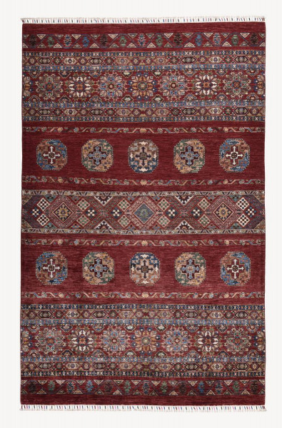 Handgeknüpfter Shawl Teppich aus Ghazni Wolle - Pir Mahal - 170x267 cm