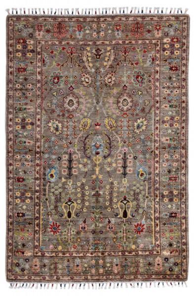 Handgeknüpfter Shawl Teppich aus Ghazni Wolle - Pir Mahal - 126 x 179 cm